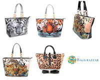 ANIMAL PRINT LADIES WOMENS LARGE SHOPPER TOTE HANDBAG LEOPARD SNOW SUMATRA TIGER