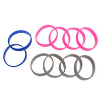 10 Silicone Rubber Bracelet Cuff Wristband Wrist Band 12mm D1T9
