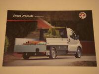 Vauxhall . Vivaro . Dropside . 2011 Models . Edition 1 . Sales Brochure