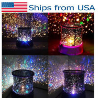 USA Romantic LED Starry Night Sky Galaxy Projector Lamp Star light Cosmos Gift
