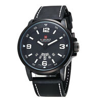 NAVIFORCE Men's Quartz Sport Luxury Wrist Watch Date Day Military Black Whi C8O0