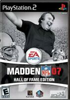 Madden NFL 07: Hall of Fame Edition (Sony PlayStation 2, 2006) 2 discs