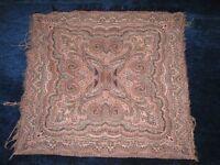 """Antique Dutch Paisley cotton Tablecloth 30.5""""x 33"""" 79 x 85 cm"""