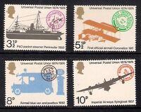 GB 1974 sg954-957 Universal Postal Union set MNH Packet Ship Aerial Post Plane
