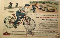 1957 Flying Falcon AMF Roadmaster Bicycle Sports Car Racing Boys Kids Bike AD