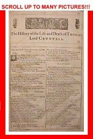 1663 ANTIQUE WILLIAM SHAKESPEARE COMPLETE 3RD THIRD FOLIO PLAY LORD CROMWELL