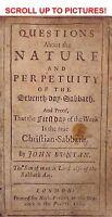 1685 John Bunyan SUNDAY IS SABBATH 1ST-ED Antique Bible Holy Christian Church