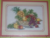BASKET OF FRUITS**CROSS STITCH LACOSTENA DESIGN/PATTERN