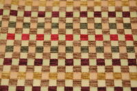 CHENILLE SQUARES UPHOLSTERY FABRIC 4.125 YDS