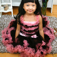Rubberdress baby Brown Pink Ruffle TOP for Pettiskirt