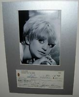 AUTOGRAPH GOLDIE HAWN ORIGINAL SIGNED CHEQUE OVERBOARD PRIVATE BENJAMIN