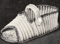 Vintage Crochet PATTERN Baby Booties Soft Shoes Sandal