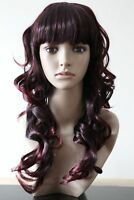 Womens Auburn Long COSPLAY WIG Curly Hair Fancy Dress
