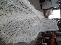 parachute blanc ajouré  camouflage neige