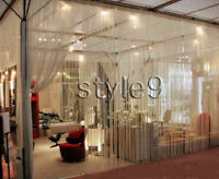 String Curtain with Beads Fringe Panel Room Divider