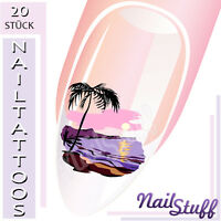 20 NAIL ART TATTOOS NailTattoos  Sticker PALMENINSEL #3