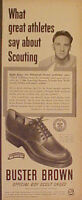 1950 Ralph Kiner Pirates Buster Brown Baseball Shoes Sports Memorabilia Art Ad