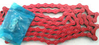 KMC Z410 RED CHAIN FIXED GEAR SINGLE SPEED RED CHAIN 1/2 X 1/8 BMX NEW
