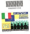 CODICE A BARRE 1350 20 ANNI DI ANTITRUST 2010 +OMAGGIO
