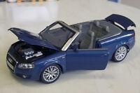Audi A4 Cabrio - Norev/Audi 1:18 - Blau Metallic