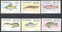 ZIMBABWE, 1994, FISH, 2ND SERIES, SG 864-869, MNH SET