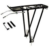 "Adjustable Black Alloy Cycle Bike Pannier Rack 24 / 26""  700c"