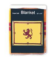 Royal Standard of Scotland Flag Fleece Blanket NEW Banner of Scots Scottish Lion
