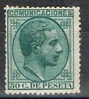 Sello Alfonso XII. 50 Cts 1878, nº 196 *.