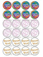 THANK YOU THANKS CUP CAKE Rice Paper Photo Toppers x 24