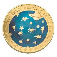 200 euros  Astronomie OR BLEU 1oz BE 2009 Rare 1000 ex.