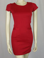 Topshop Button Detail Red Dress By Rare  Sizes 6, 8, 10, 12,14