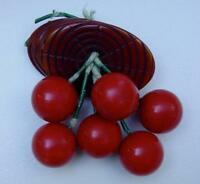 Vtg Bakelite Catalin Dangling Cherry Overdyed Log Brooch Pin Tested Book Piece
