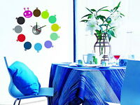 Large Vinyl Designer Decor Wall Clock Stickers Mural Art Decals - Colorful