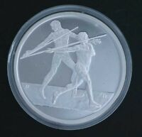 Silver Proof Coin 2004 Greek Olympics-Javelin