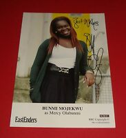 BUNMI MOJEKWU GENUINE HAND SIGNED AUTOGRAPH 6x4 CAST CARD EASTENDERS MERCY + COA