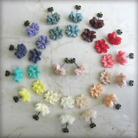 Vintage Style Lilly Flower Stud Earrings. Great Wedding Favours /Stocking Filler