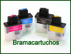 4 CARTUCHOS RELLENABLES PARA BROTHER LC 900 LC950