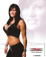 TRACI BROOKS DIRECT!  OFFICIAL TNA 2009 PROMO 8x10 SIGNED 2U! IMPACT WWE PLAYBOY