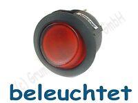 Wippschalter rund EIN/AUS 1-pol rot bel 6A/250VAC