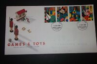 GAMES & TOYS ROYAL MAIL FIRST DAY COVER 1989