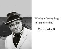 Vince Lombardi Green Bay Packers Quote 8 x 10 Photo Picture #gb2