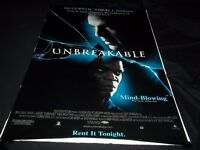 "UNBREAKABLE MOVIE POSTER - BRUCE WILLIS - 27"" X 40"" - ORIGINAL POSTER - RP 117"