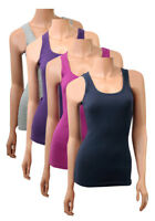 NEW LADIES RIBBED VEST TOPS,WOMENS TOPS VARIOUS COLOURS/SIZES