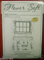 Flower soft unmounted rubber stamps Country Window set of 11 sheet 141 x 206mm