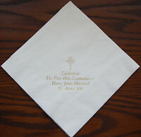 100 Personalised napkins 40x40cm 3ply First Holy Communion