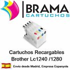4 CARTUCHOS RELLENABLE PARA BROTHER LC1220 LC1240 LC1280 MFC-J6910DW MFC-J5910dw