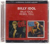 "2 CD Billy Idol ""Billy Idol + Rebel Yell"" Neu/OVP Flesh for Fantasy, Rebel Yell"
