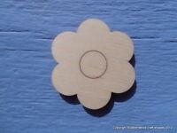 4cm Wooden Flower Daisy Embellishment Craft Blank Shape Pack of 10