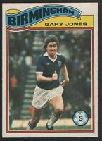 TOPPS - FOOTBALLER 1978 ORANGE BACK #349 - BIRMINGHAM CITY - GARY JONES