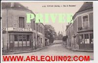 Cpa Carte Postale Ancienne 2187 Vivoin Rue De Beaumont Sarthe 72 Cafe Mouette .